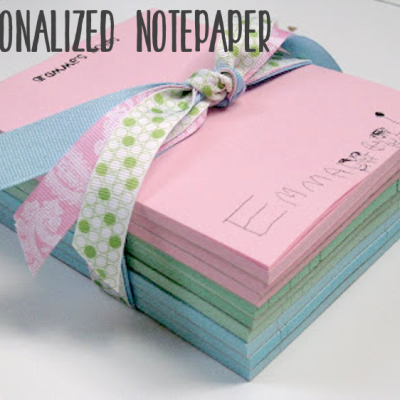 {personalized notepaper}