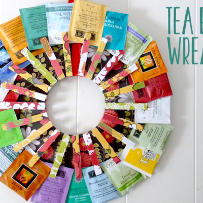 Tea Bag Wreath