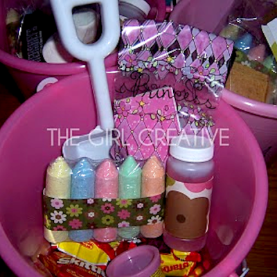 {Beach Pail Goody Bags for Summer Birthday Party}