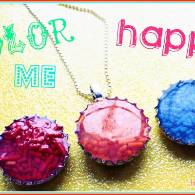 Candy Filled Bottle Cap Rings and Necklaces