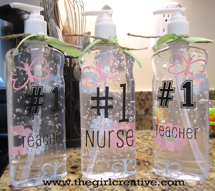 Teacher appreciation hand sanitizer