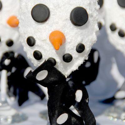 Snowman Votive