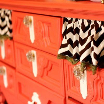 A Quite Coral Dresser Revival