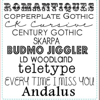 Favorite Fonts