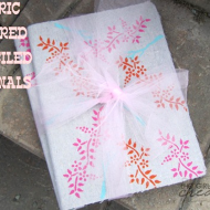 Mother's Day Gift Idea {Tutorial} – Fabric Covered Stenciled Journals