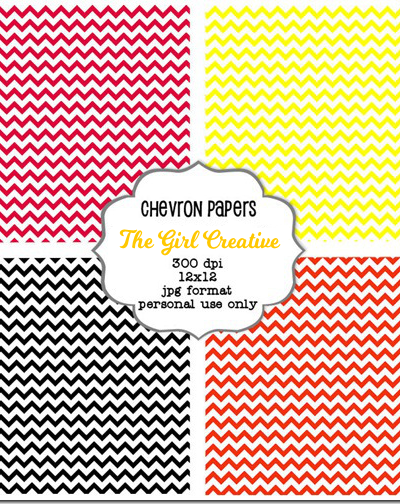 Free Chevron Backgrounds - Great for web/blog design, scrapbooking and printing out.