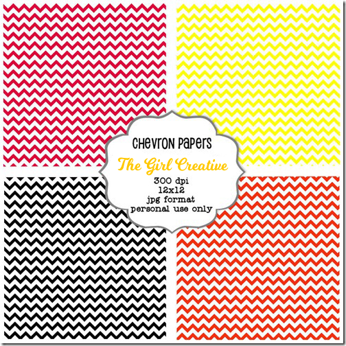 image relating to Free Printable Chevron Pattern identified as Totally free Printable Chevron Papers - The Woman Inventive
