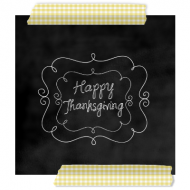 {Thanksgiving Chalkboard Label}