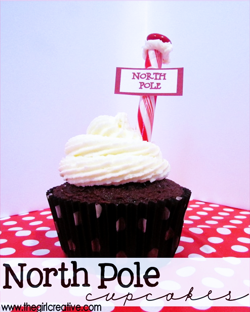 DIY North Pole Cupcakes