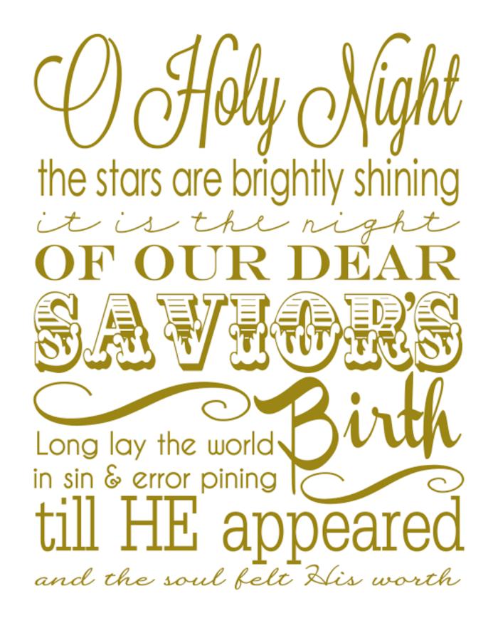 O Holy Night Printable