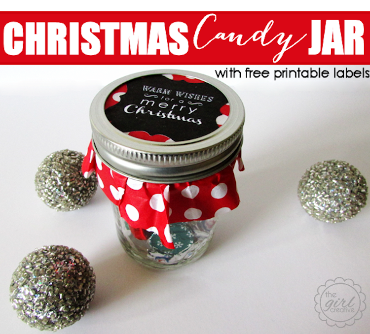 Christmas Candy Jar - The Girl Creative