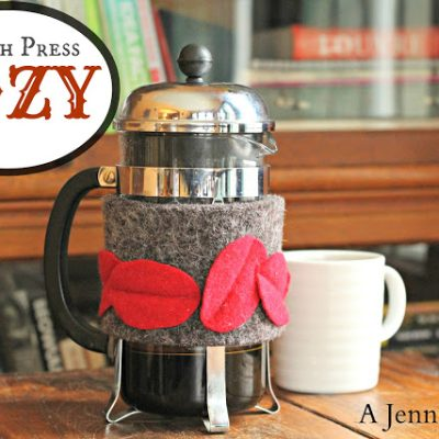 DIY French Press Cozy