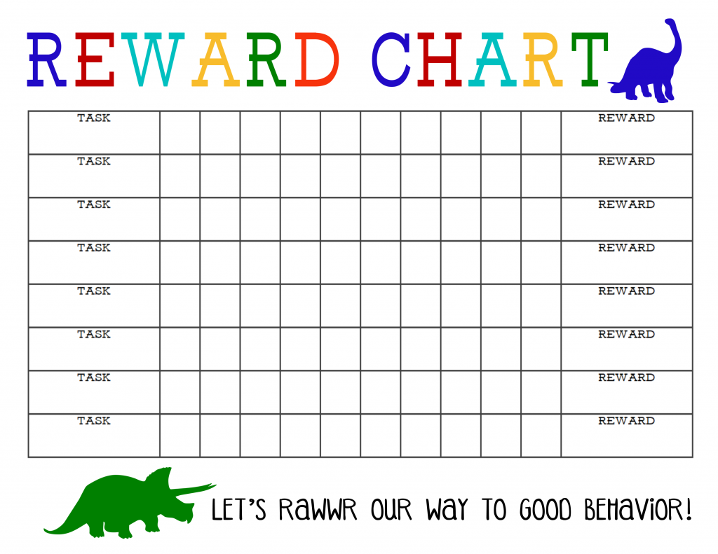 Printable Reward Chart for Boys