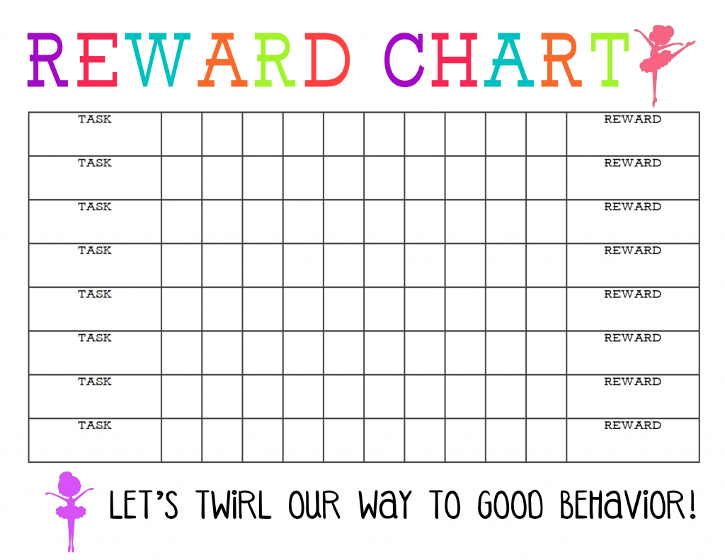 Printable Reward Chart for Girls