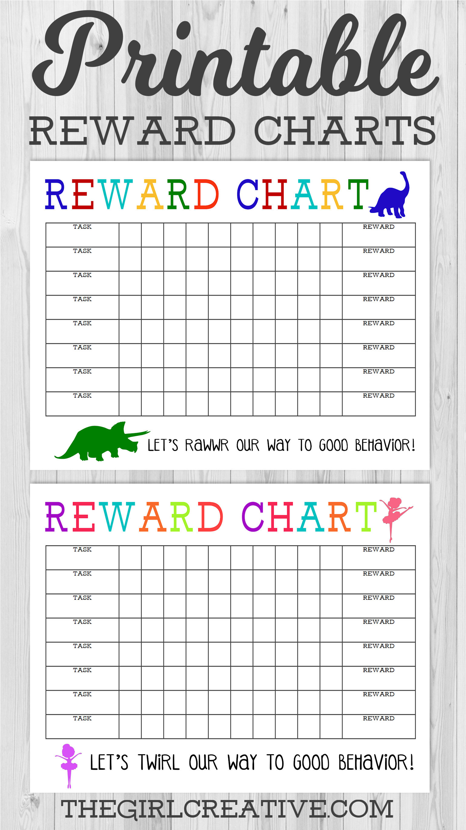 picture regarding Printable Sticker Chart referred to as Printable Benefit Chart - The Woman Innovative
