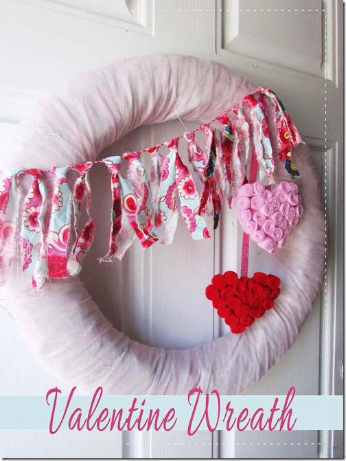 DIY Valentine Wreath