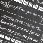 I Know That You Are For Me Chalkboard Art Preview Image