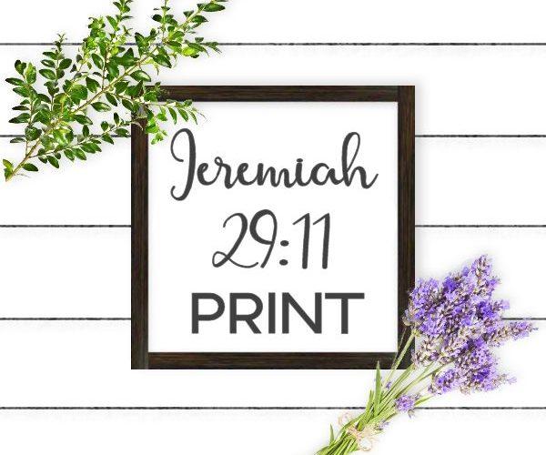Jeremiah 29:11 Print
