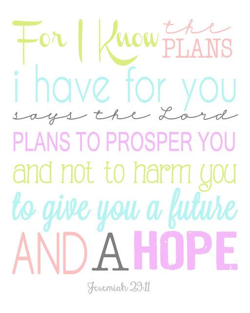 Jeremiah 29:11 Print - The Girl Creative