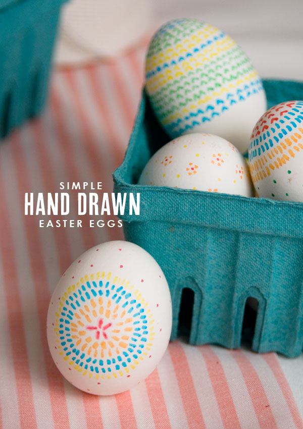 easter eggs-handdrawn