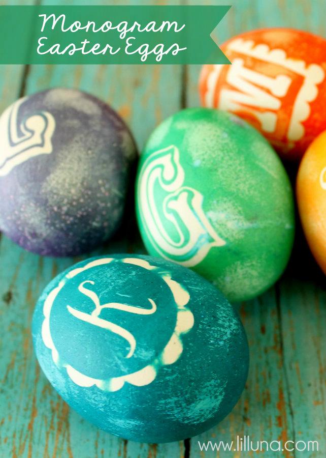 easter eggs-monogram