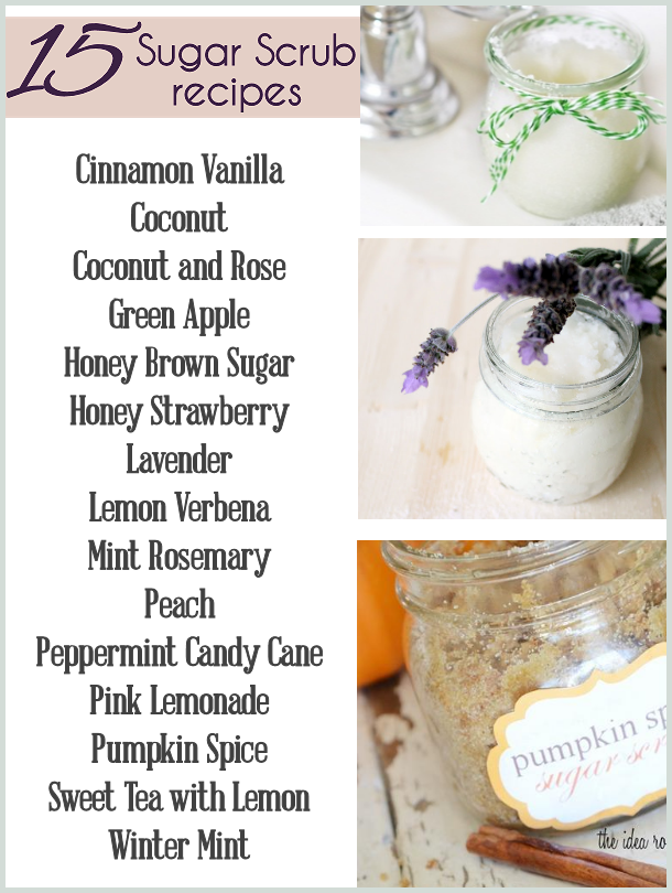 Homemade Sugar Scrub Recipes