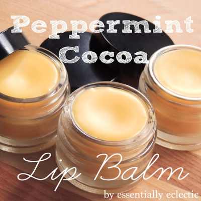 DIY Peppermint Cocoa Lip Balm