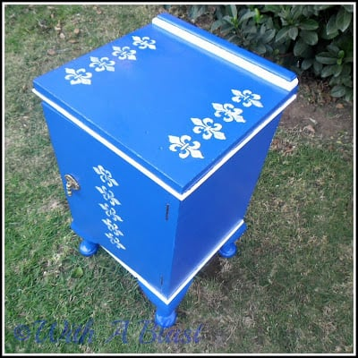Blue End Table