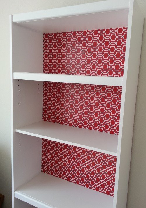 Laminate Bookcase Makeover