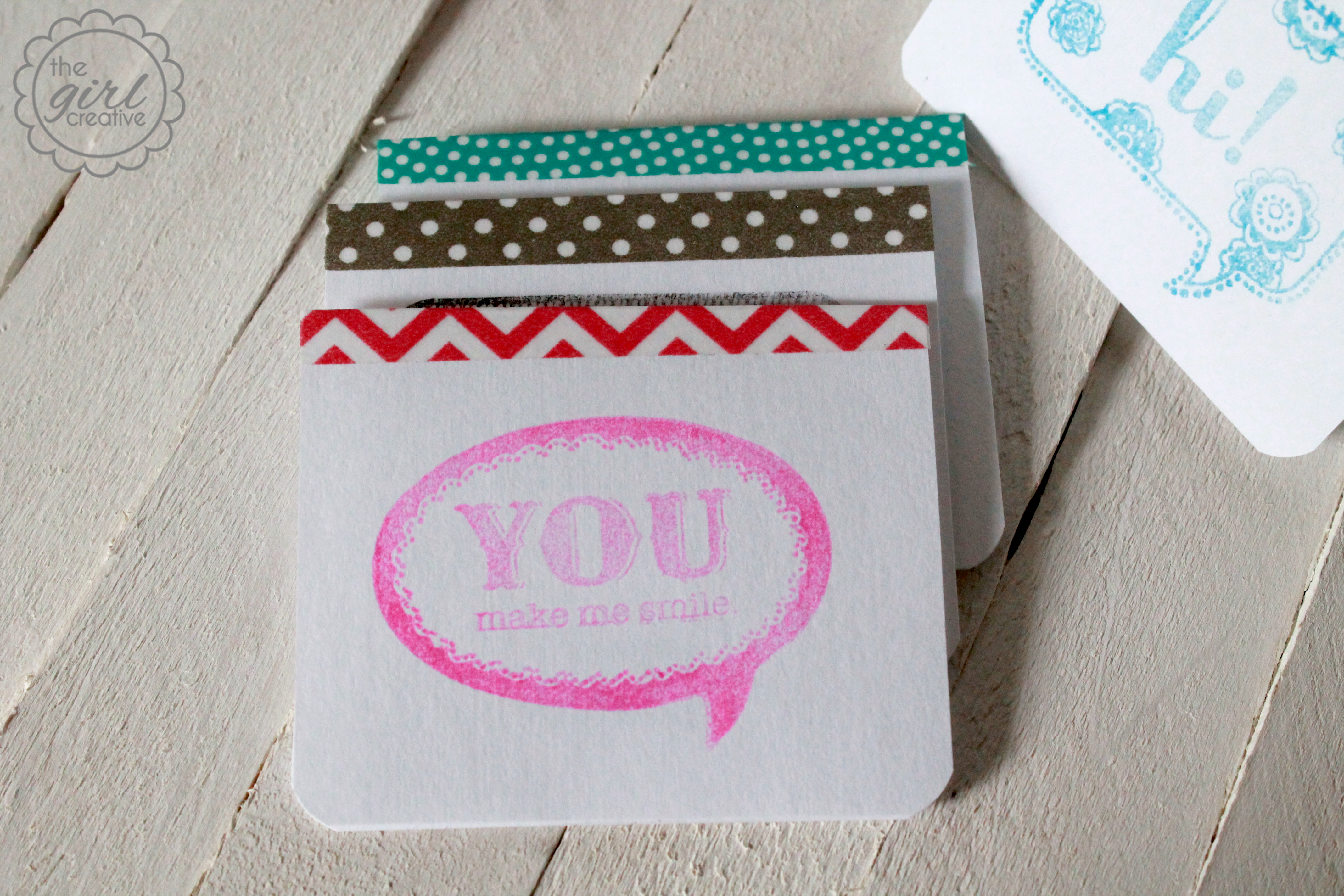 Mini Notecards With Washi Tape