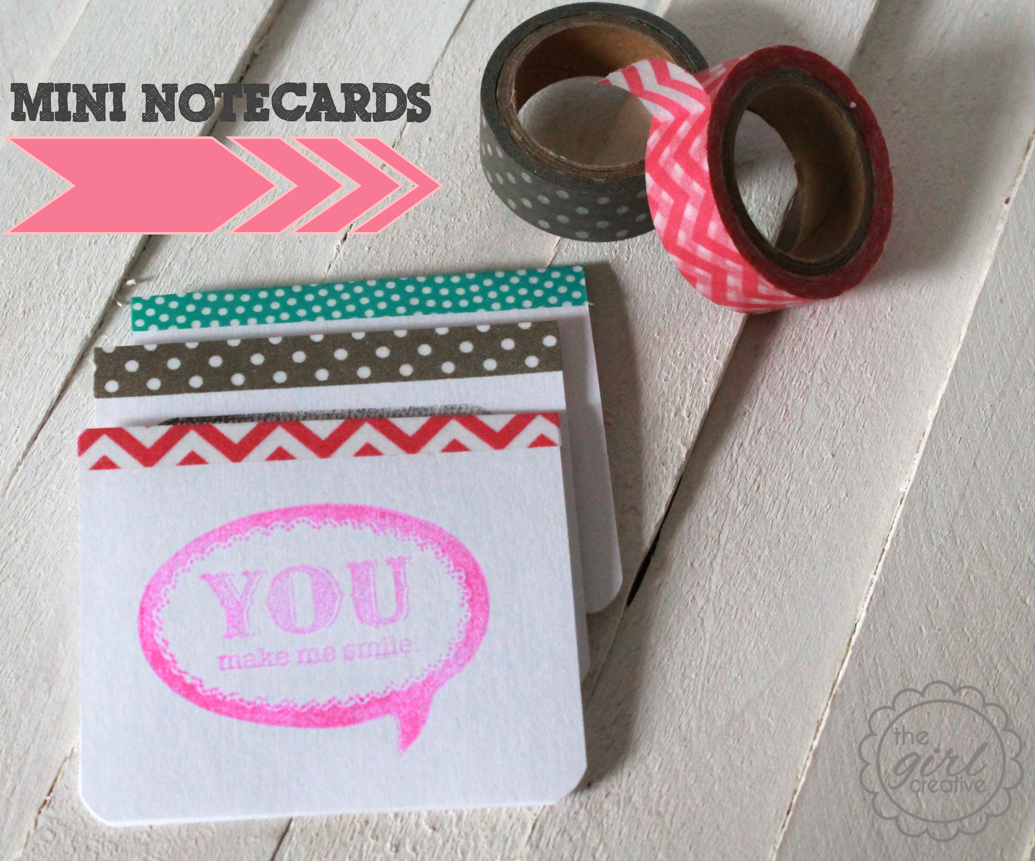 Mini Washi Tape Note Cards {15 Minute Craft}