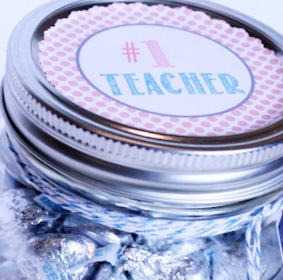 Teacher Appreciation Hershey Kiss Gift Jar