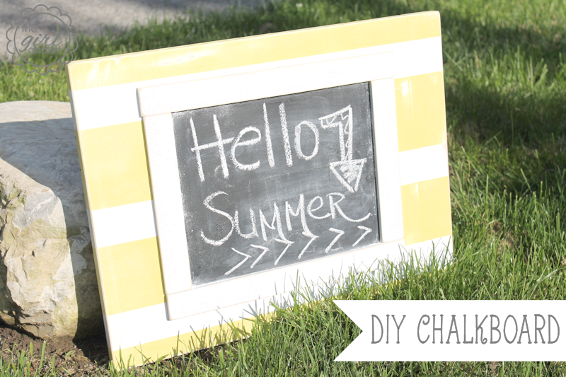 DIY striped summer chalkboard by the Girl Creative