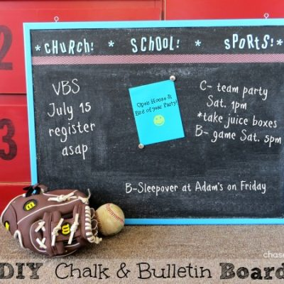 DIY Chalk and Bulletin Board