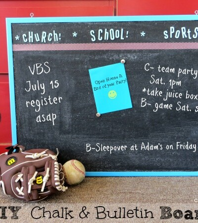 DIY Chalk Bulletin Board