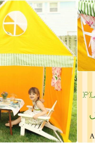 DIY PVC Playhouse Tent