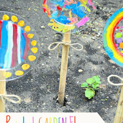 Painted Garden Flowers {create memories with kids}