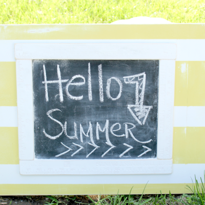 Summer Chalkboard + Giveaway with Home Depot and Scotch Blue