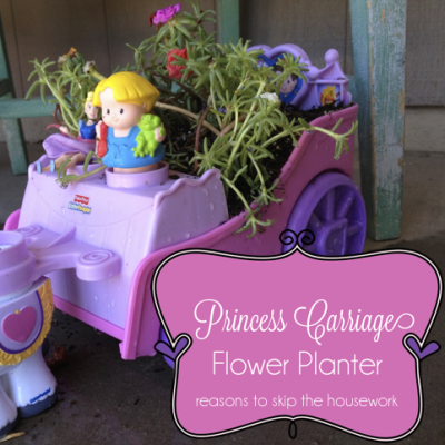 Princess Carriage Planter {create memories with kids}