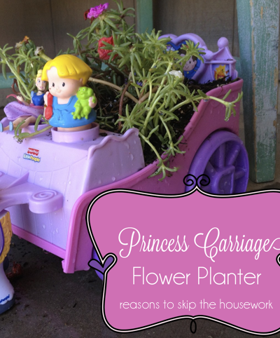 princess carriage planter