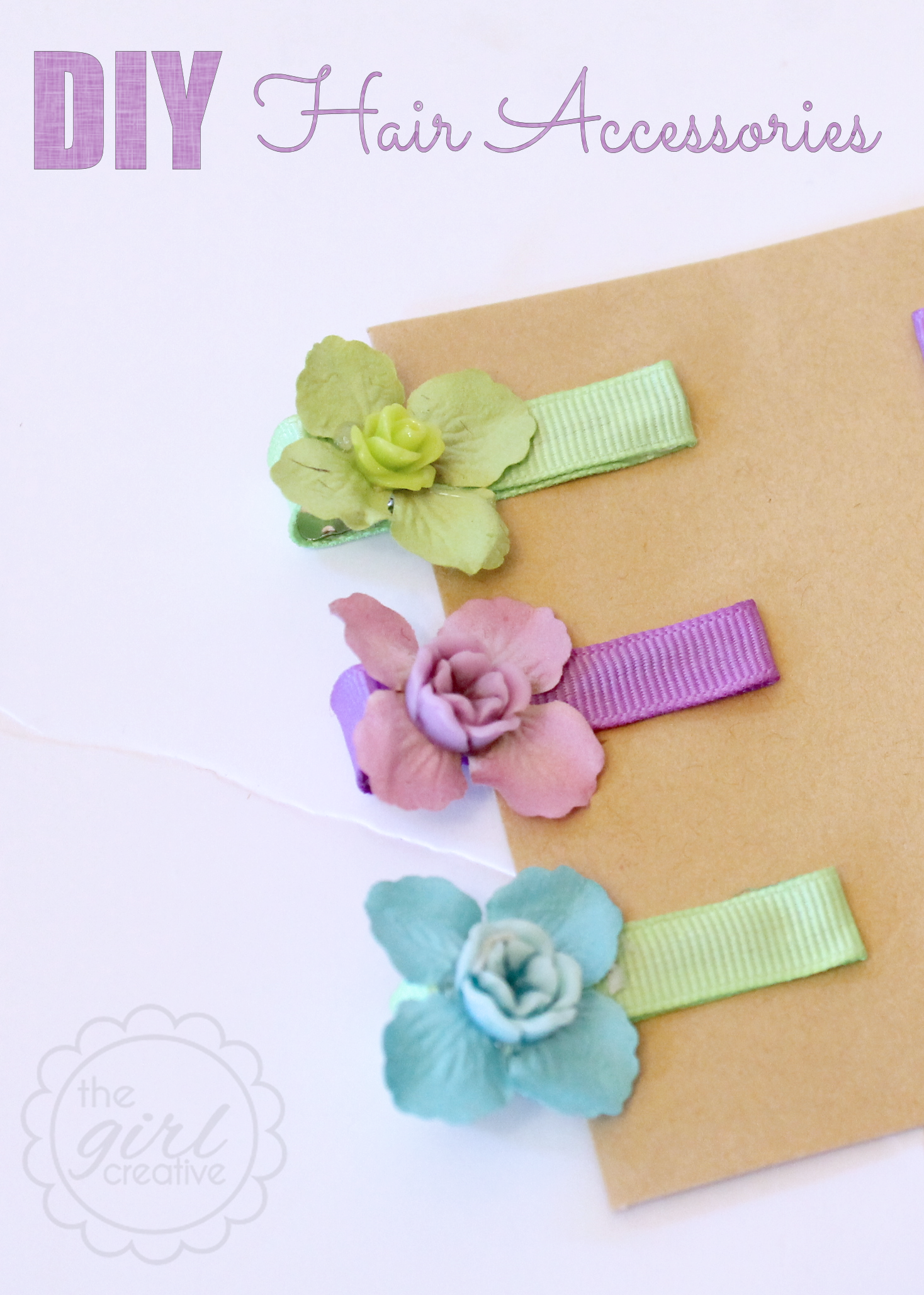Easy DIY Hair Clips - The Girl Creative