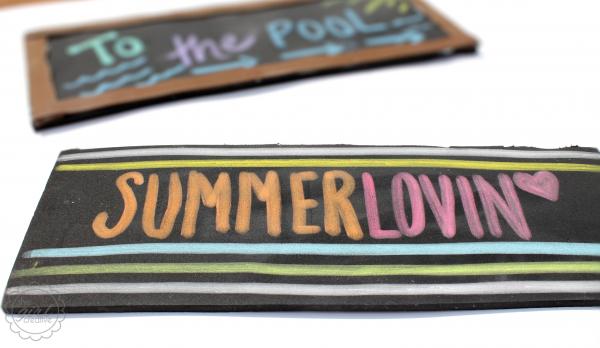 Faux Chalkboard SummerLovin