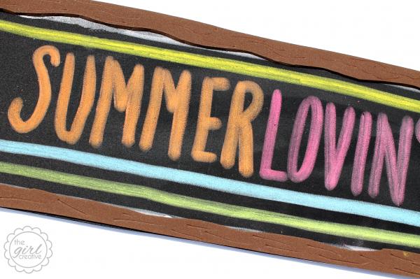 Faux Chalkboard SummerLovinCloseup