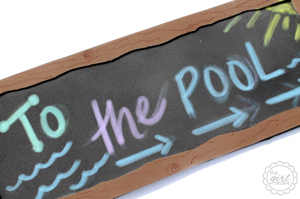 Faux Chalkboard ToThePool
