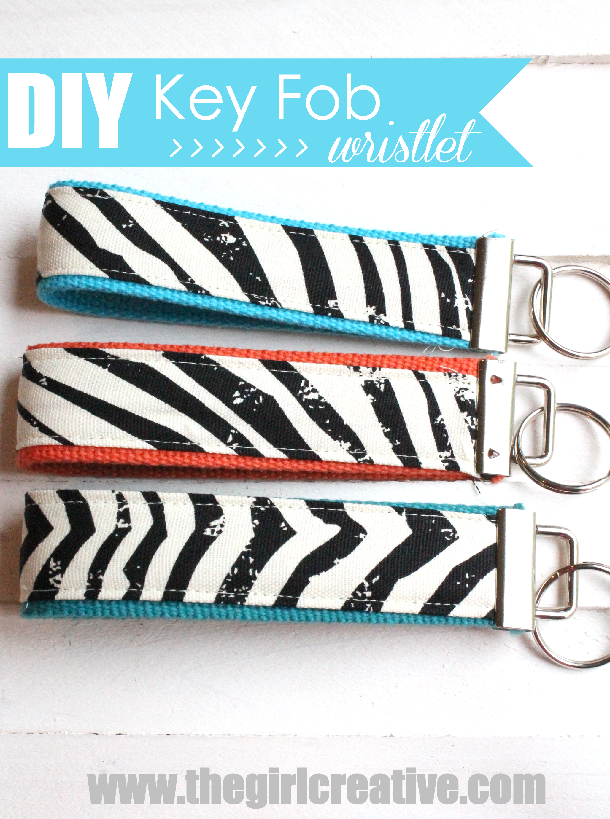 Diy Key Wristlet With Michaels Fabric The Girl Creative