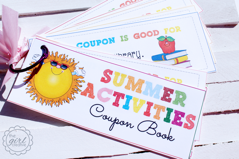 Summer Activiites Coupon Book