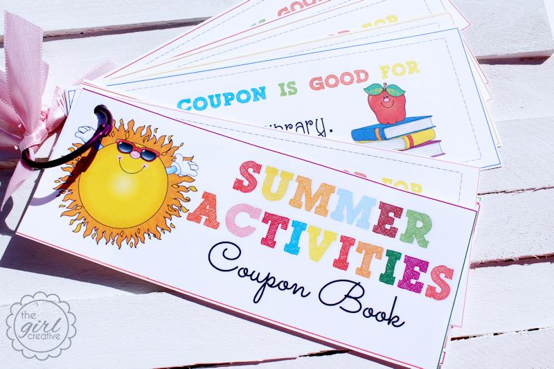 printable summer activities coupon book the girl creative
