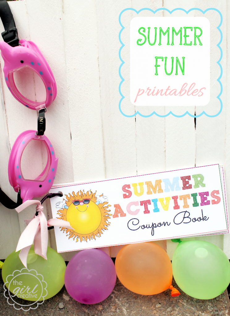Printable Activity Coupon book for kids