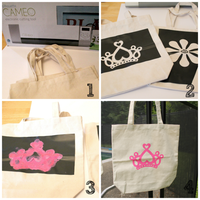 Stenciled Tote Bag