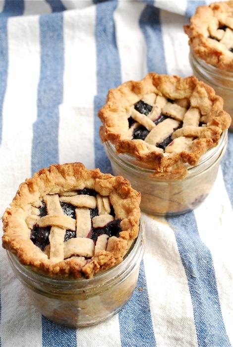 blueberry pie in a jar